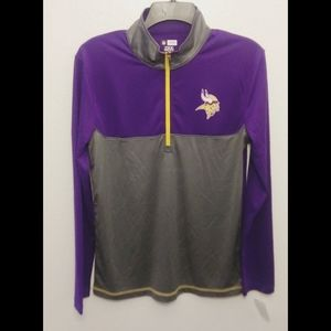 NWT Minnesota Vikings Pull-over with zipper